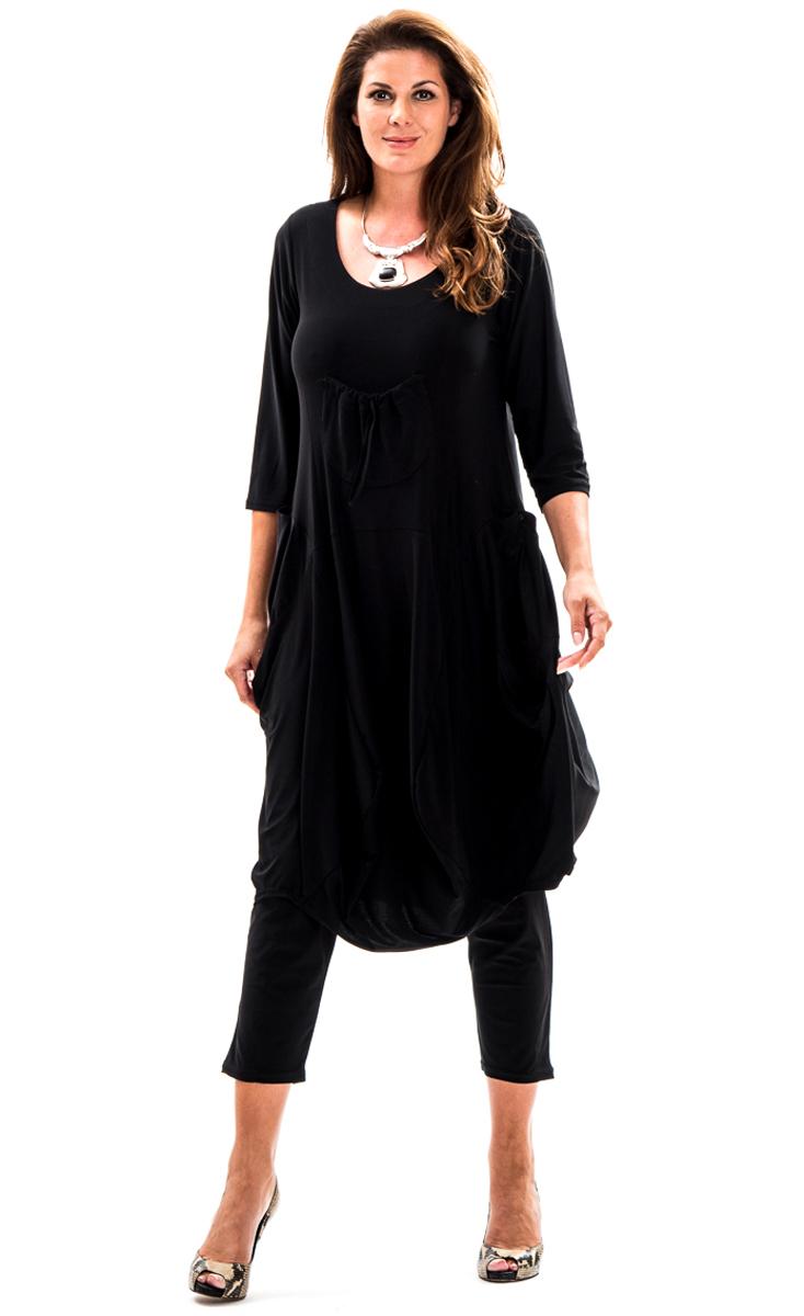 magna fashion kleid leichte ballonform taschen tunikakleid. Black Bedroom Furniture Sets. Home Design Ideas